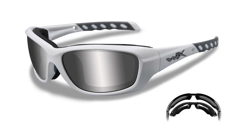 Ochelari De Soare Wiley X Gravity Lentile Fumurii Silver Flash