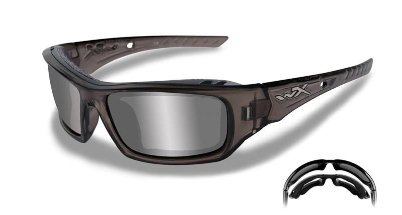 Ochelari De Soare Wiley X Arrow Lentile Fumurii Si Invelis Oglinda Argintiu